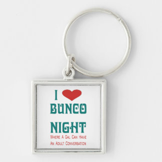 i love bunco night keychain