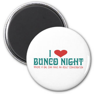 i love bunco night magnet