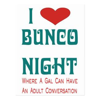i love bunco night postcard