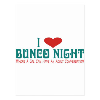 i love bunco night postcard