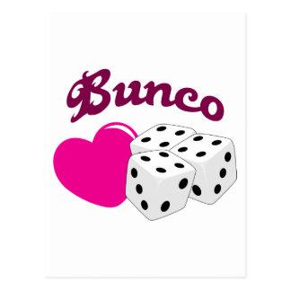 I Love Bunco Postcard