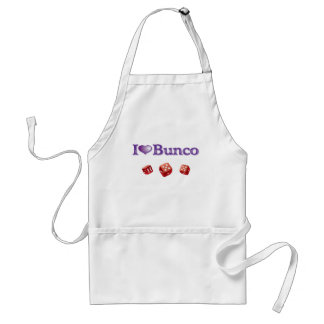 I Love Bunco with Red Dice Adult Apron