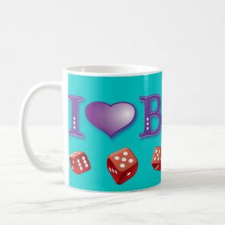 I Love Bunco with Red Dice Classic White Coffee Mug