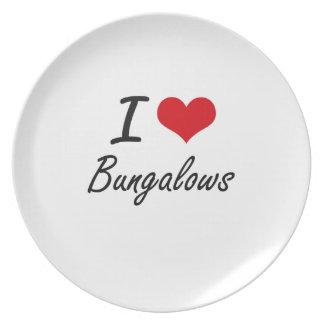 I Love Bungalows Artistic Design Plates