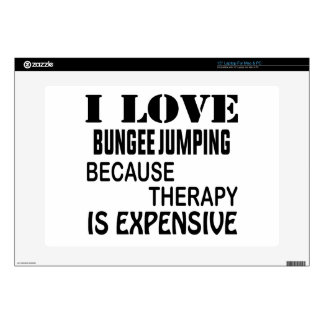 I Love Bungee Jumping Because Therapy Is Expensive Decal For Laptop