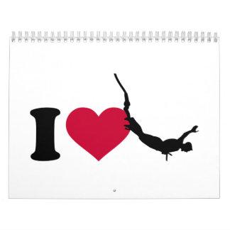 I love bungee jumping calendar