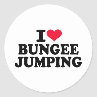 I love bungee jumping classic round sticker