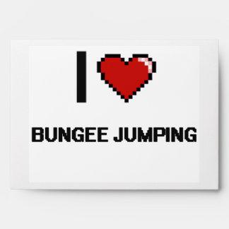 I Love Bungee Jumping Digital Retro Design Envelopes