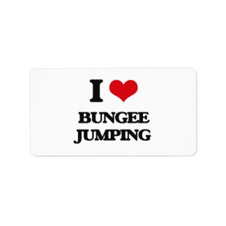 I Love Bungee Jumping Labels