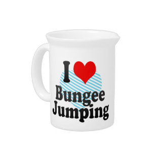 I love Bungee Jumping Drink Pitchers