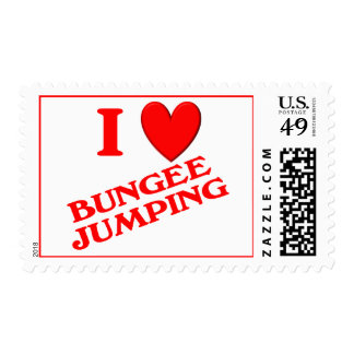 I Love Bungee Jumping Postage Stamp