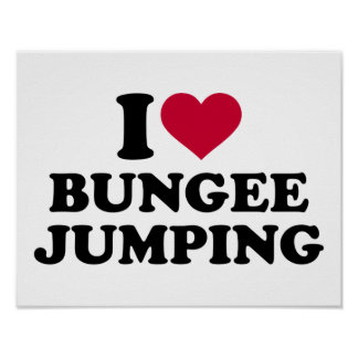 I love bungee jumping poster