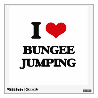 I Love Bungee Jumping Wall Sticker