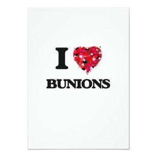 I Love Bunions 5x7 Paper Invitation Card