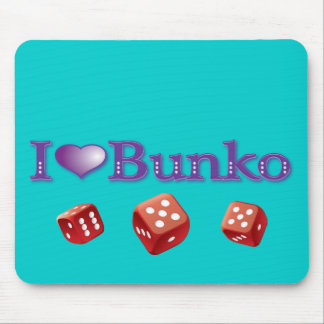 I Love Bunko Mouse Pad