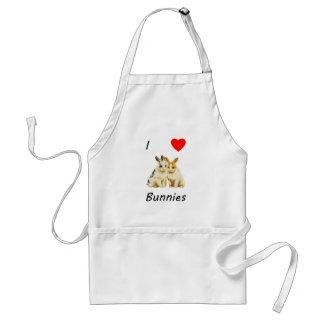 I Love Bunnies Adult Apron