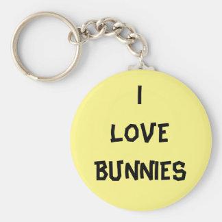 I love bunnies badge - Colour of your choice Keychain