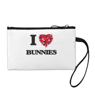 I Love Bunnies Change Purse