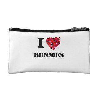 I Love Bunnies Cosmetic Bags