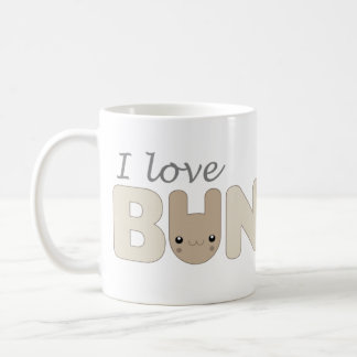 I Love Bunnies (brown) Mug