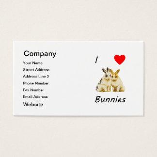 I Love Bunnies Business Card