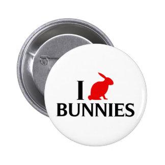 I Love Bunnies Buttons