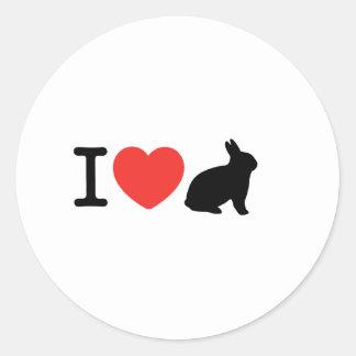 I love bunnies classic round sticker