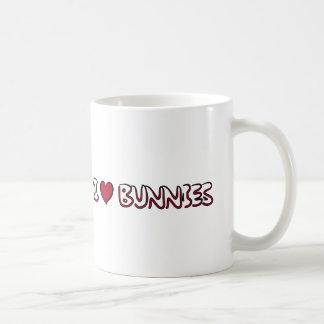 I Love Bunnies Coffee Mug