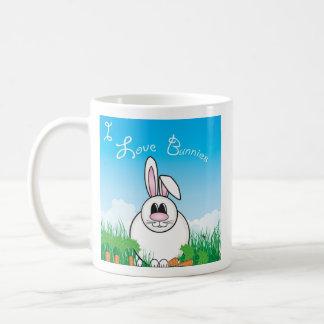 I Love Bunnies Coffee Mugs