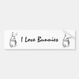 I Love Bunnies (customizable) Car Bumper Sticker