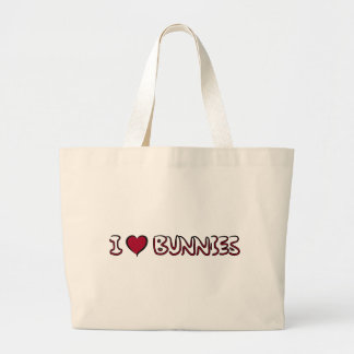 I Love Bunnies Jumbo Tote Bag