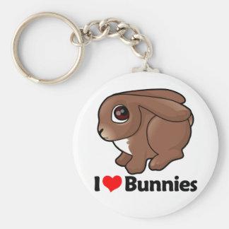 I Love Bunnies Keychain