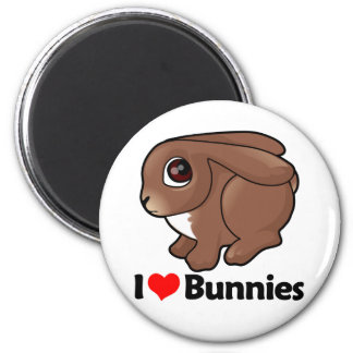 I Love Bunnies Magnets