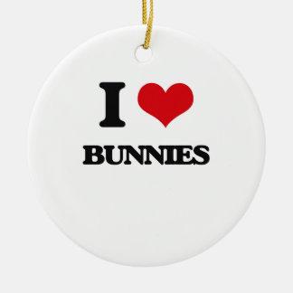 I Love Bunnies Ornaments