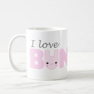 I Love Bunnies (pink) Mug