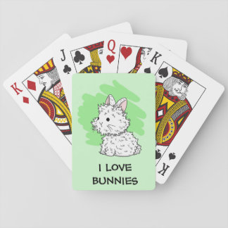 I love bunnies Playing cards - Green