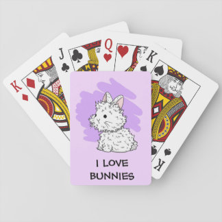 I love bunnies Playing cards - Lilac