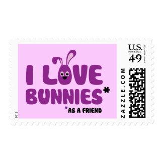 I Love Bunnies * Postage