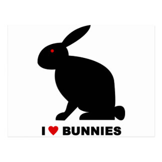 I Love Bunnies Postcards