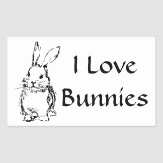 I Love Bunnies Stickers