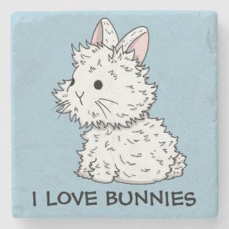 I love bunnies Stone Coaster