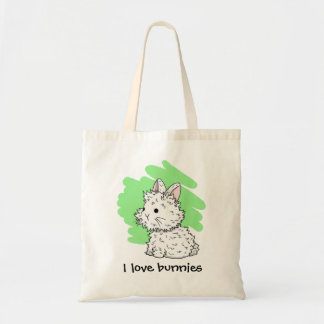 I love bunnies Tote bag - Green