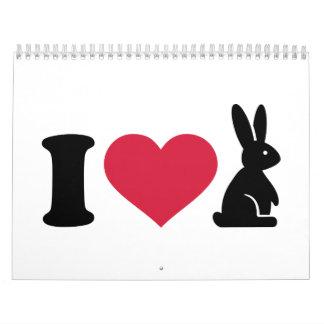 I love bunny calendar