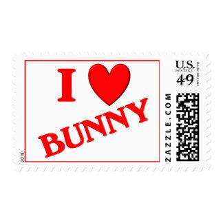 I Love Bunny Postage