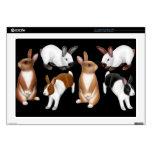 I Love Bunny Rabbits Laptop Skin