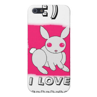I LOVE BUNNY'S, :) CASE FOR iPhone SE/5/5s