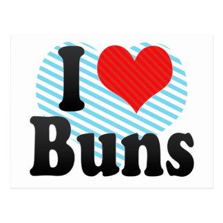 I Love Buns Postcard