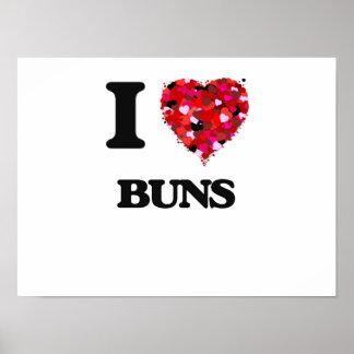 I Love Buns Poster