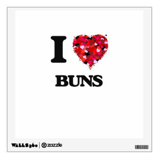 I Love Buns Wall Stickers