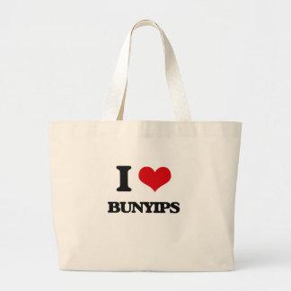 I love Bunyips Jumbo Tote Bag
